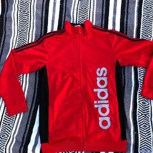 Red Adidas jacket men/women active wear